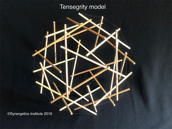 共鳴テンセグリティモデル 直径35cm  140 g